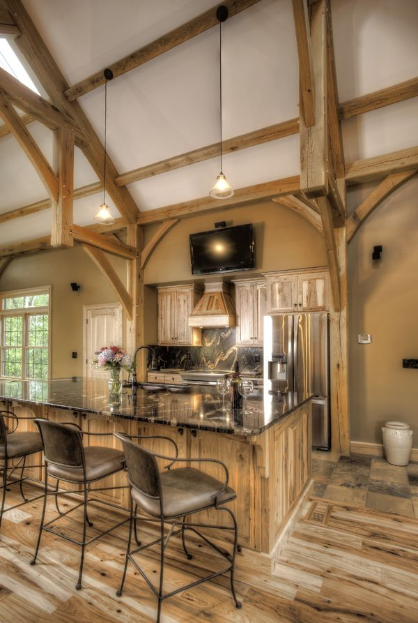 17 best images about timber home kitchens on pinterest for Timber frame kitchen
