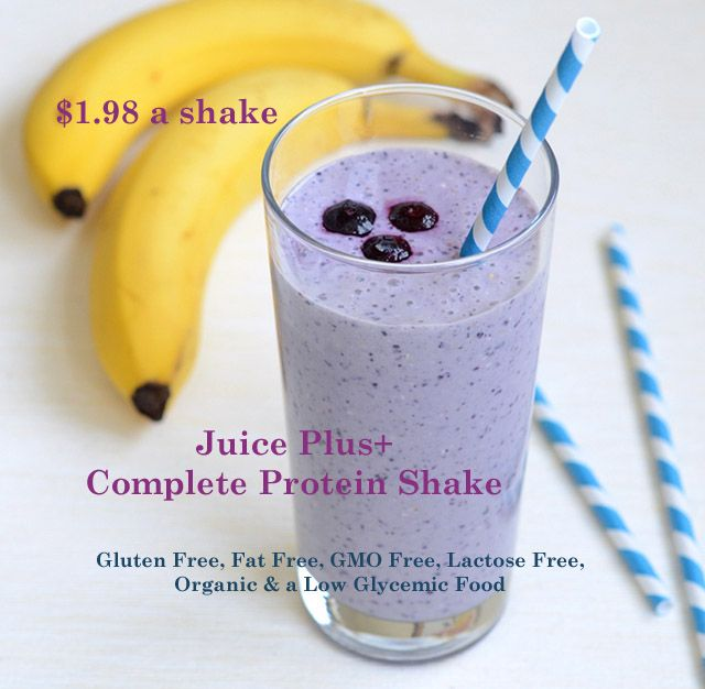 Juice Plus Complete Protein Shake  Gluten Free, Fat Free, GMO Free & Lactose Free. Low Glycemic Food $1.98 a shake. www.wpittmanjuice... or www.facebook.com/scentsy.wendypittman