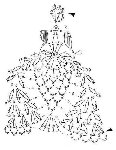 Crochet princess chart pattern