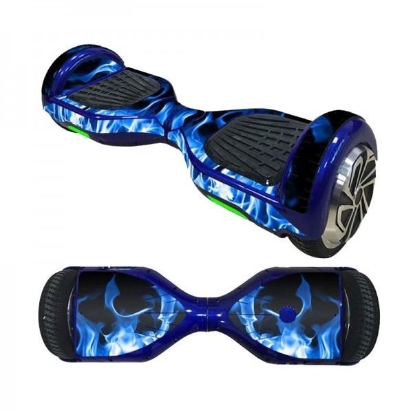 6.5 Inch Hoverboard Sticker - Ice Fire Blue | Hoverboard, Electric skateboard, Balancing scooter