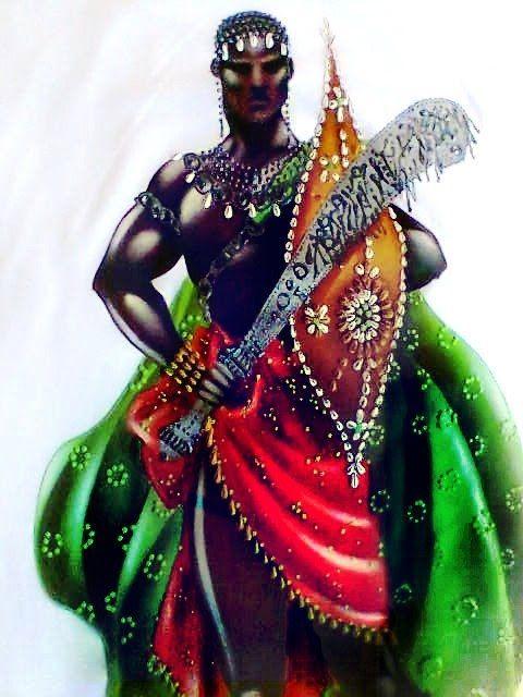 Mitologia africana. Ogum e o arquétipo da coragem.No sincretismo religioso está associado a São Jorge .