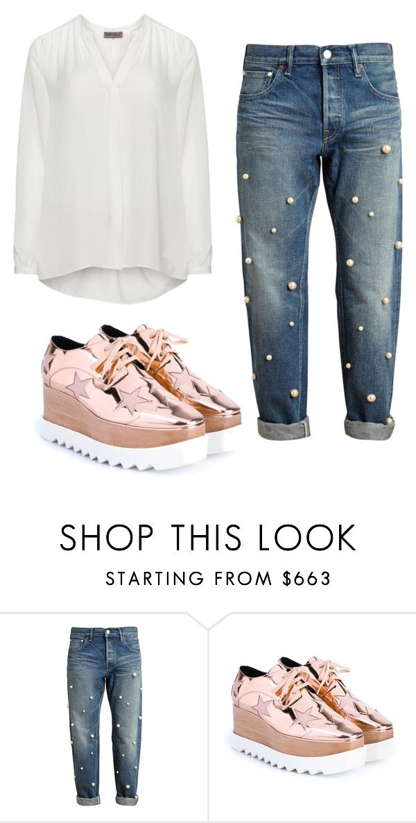 """""""Them shoes are popping."""" by christyandnef on Polyvore featuring Tu Es Mon Trésor, STELLA McCARTNEY, Open End, women's clothing, women, female, woman, misses and juniors"""