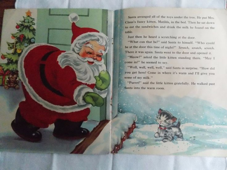 "1952 Santa Claus ""A Fuzzy Wuzzy"" Picture Book Story. Whitman Publishing. Softcover book. Good condition, gently handled, clean, minor tears, no writing. Edges show wear. Be sure to add me to yourfavorites list ! 