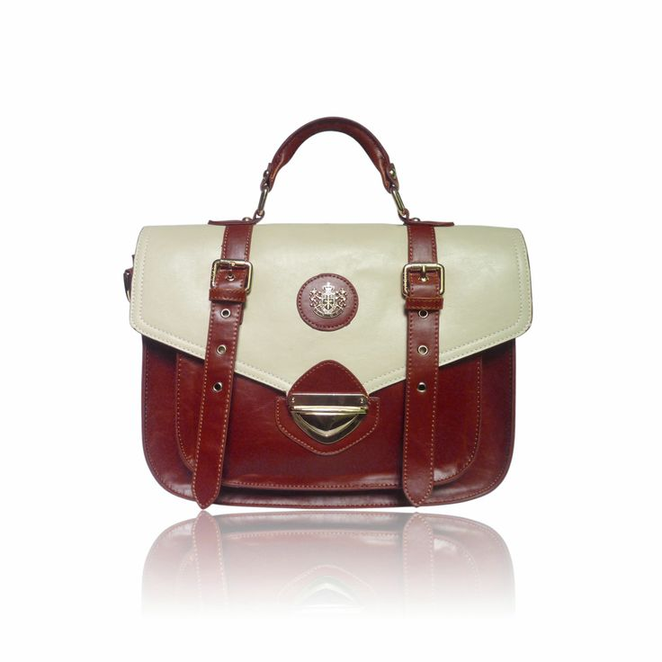 Red & Cream Satchel