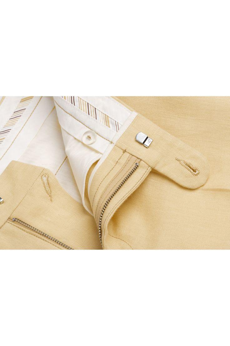Spodnie lniane męskie trousers Blue Sky