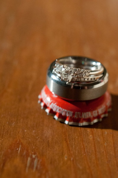 ring shot idea (Coca cola caps) - Homeland Wedding at Torrey Oaks from Peach Blossom Photography