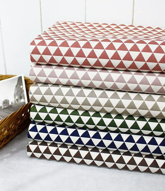 "Scandinavian Nordic Style Mini Triangle Pattern Cotton Fabric  -20s 100% Cotton  -1 Yard Width & Length: 43""X 35"" (110cm X 90cm)  -Please see the"
