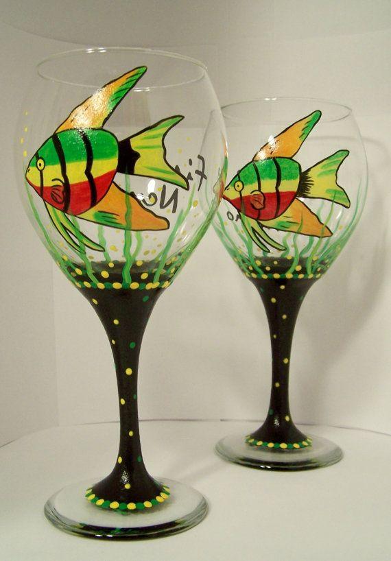 Finding Nemo Wine Glass by GranArt on Etsy, $20.00