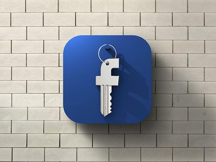 Facebook Security Icon - by Tomislav Zvonarić   #ui