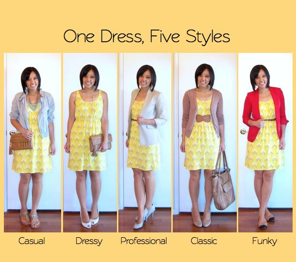 Five Ways to Style a Dress