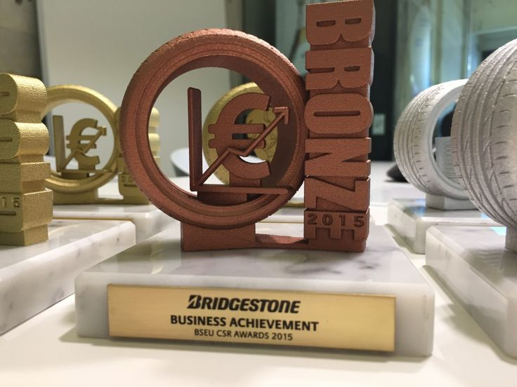 Gemaco - Unides - Bridgestone - corporate 3D printed trophies 7