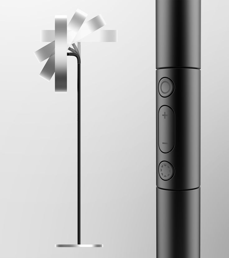 Torus is an electric fan operated by electromagnetic rails instead of motors. It also functions as floor stand.