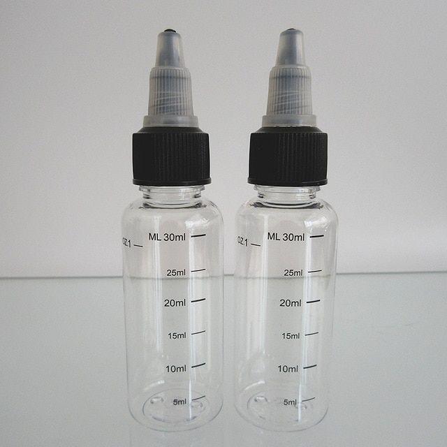 10pcs 1oz 30ml Pet Bottle With Silk Printing Scale Graduation Dropper Bottle E Juice Liquid Empty Bottle With 18mm Twist O Bottle Pet Bottle Refillable Bottles