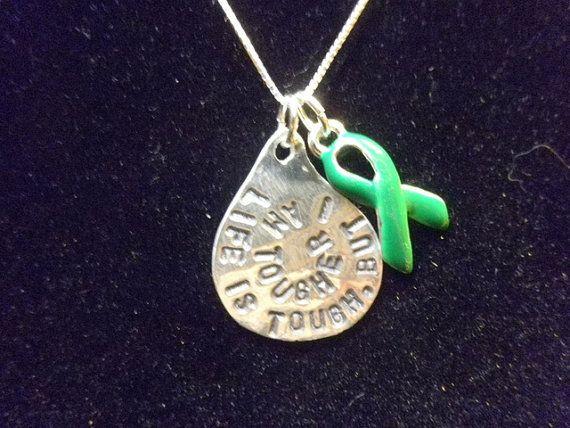 Kidney Disease Jewelry Kidney Disease Ribbon by silverdragonfly260, $37.00