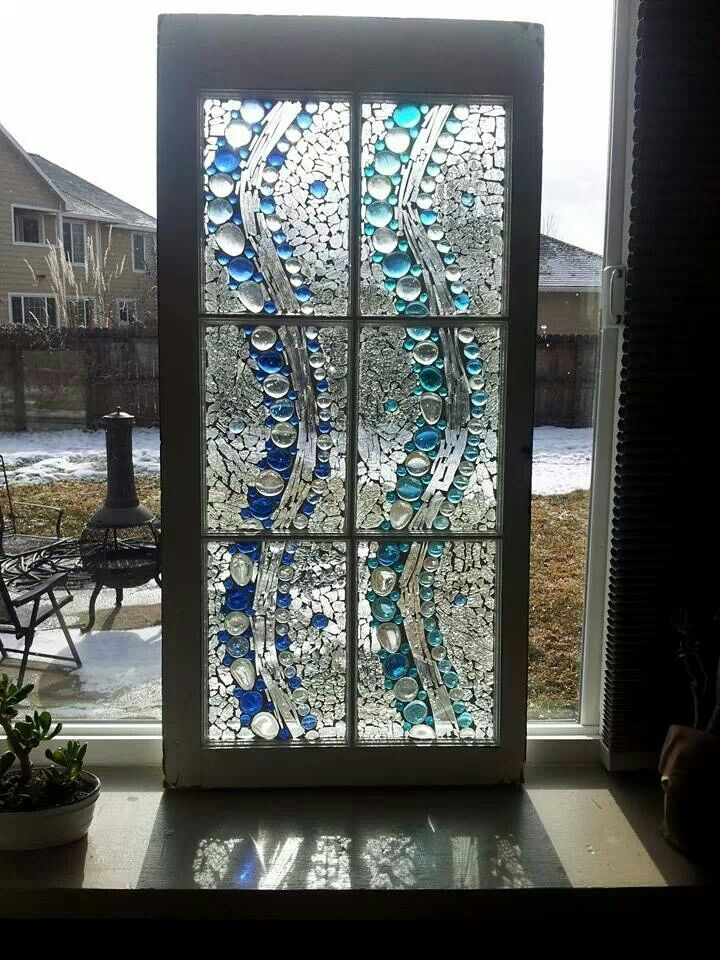Old Windows Glass Mosaics Stained Glass Mosaic Window