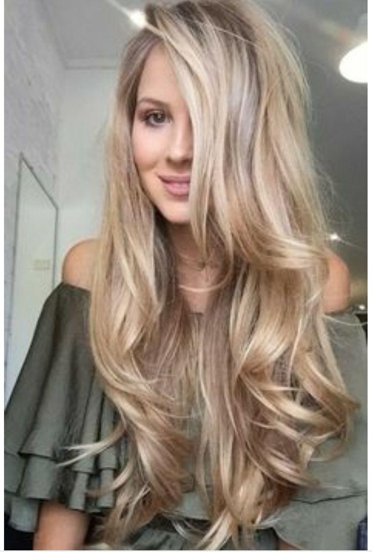 Lange Haare Lange Blonde Haare Naturliche Locken Gesundes Haar