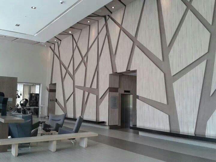 Great Idea !! Recubrimiento en muros. Sencillo, económico y muy lujoso.