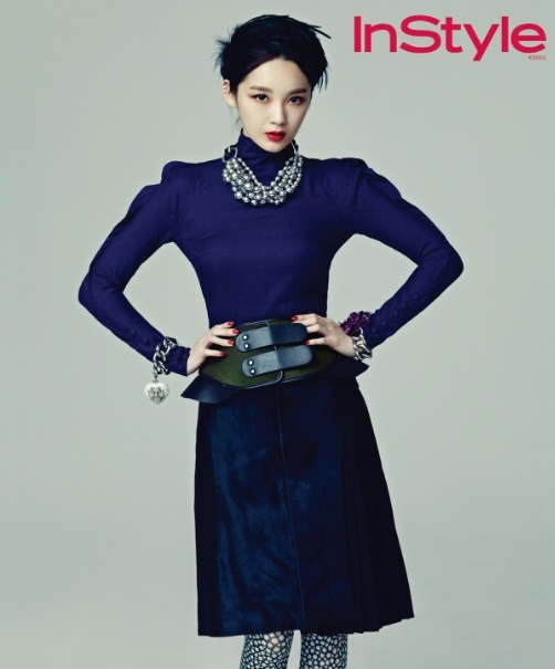 Davichi's Kang Min Kyung in InStyle Korea September 2012