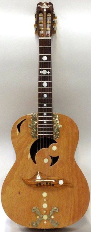 1970s Washburn WN-30 Classic Made by Terada Gakki for the Beckmens who owned the name Washburn at the time; and apparently all of the decoration is original! Lardys' Chordophone of the day 2017 --- https://www.pinterest.com/lardyfatboy/
