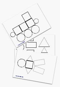 Modèles pour formes logiques - Gijou à la maternelle