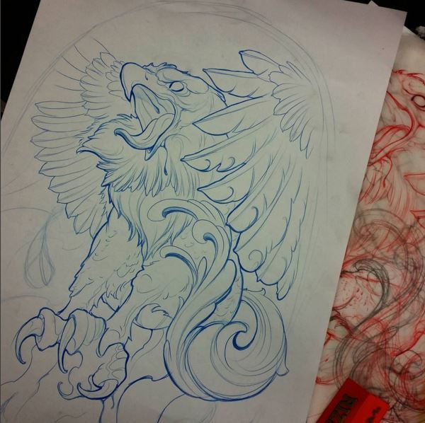 This eagle gave me the idea to do a Griffin.