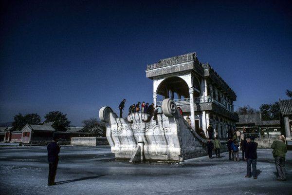 Marble boat at Summer Palace, Beijing, 1985. (Photographer: Alex NG)