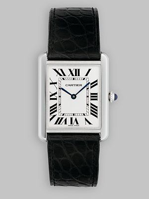 Cartier - Tank Solo Stainless Steel Watch on Leather Strap, Large - Saks.com