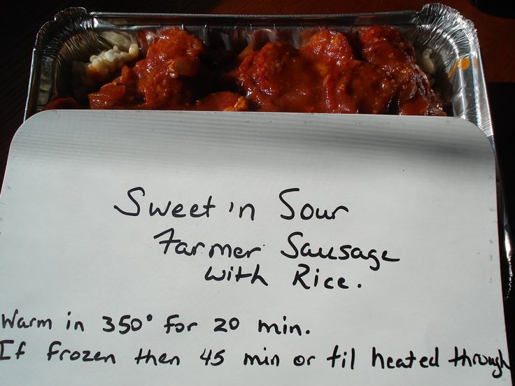 """Mennonite Girls Can Cook: """"Caring through Sharing"""" / Sweet and Sour Farmer Sausage"""
