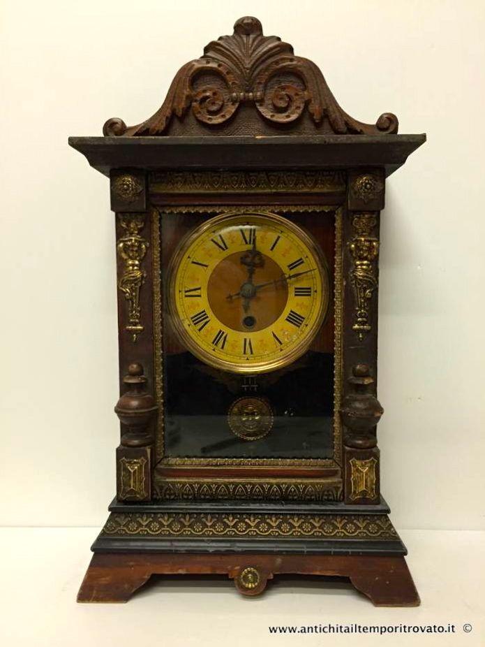 Oggettistica d`epoca - Orologi e portaorologi Antico orologio F.M.S. - Pendolo da tavolo tedesco Immagine n°1