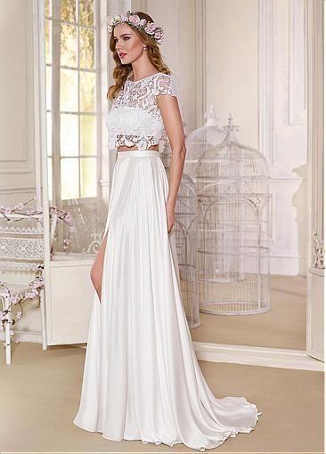 Sexy slim fit wedding dress - bridal dress - bohemian wedding