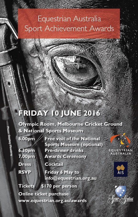 EQUESTRIAN AUSTRALIA SPORT ACHIEVEMENT AWARDS http://www.horseproperty.com.au/company/blog/71-equestrian-australia-sport-achievement-awards #Equestrian #HorseProperty