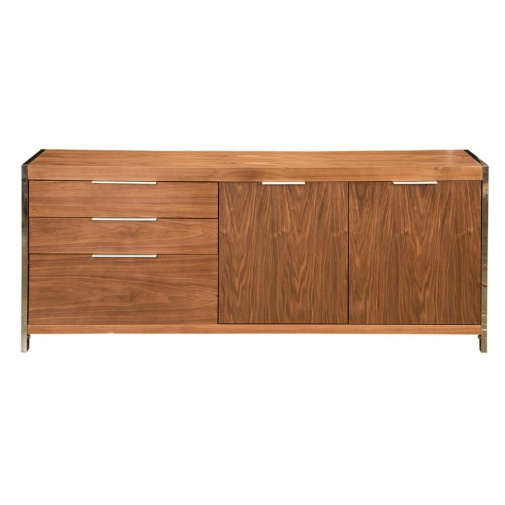 Neo Sideboard Walnut - Sideboards & Storage - MOE'S Wholesale