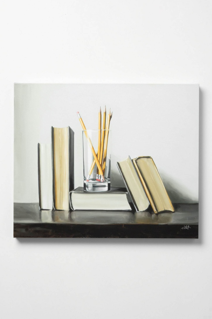 Anthropologie: Still Life With Pencils Wall Art