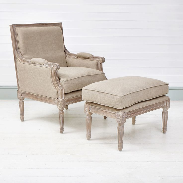 French Armchair with Footstool