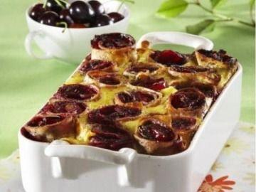 Zapečené palačinky s višněmi a mákem - Baked pancakes with sour cherries and poppy seeds