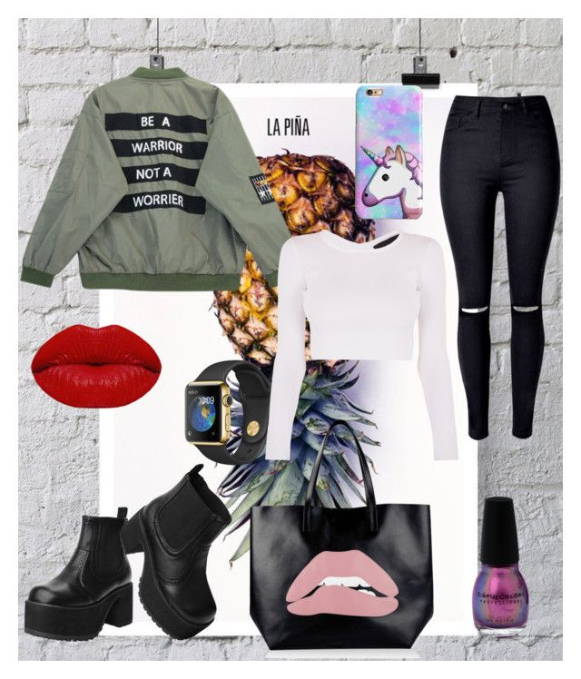 """""""casual"""" by melissa-torres-velez on Polyvore featuring La Pina, Chicnova Fashion, WithChic, T.U.K., RED Valentino and Winky Lux"""