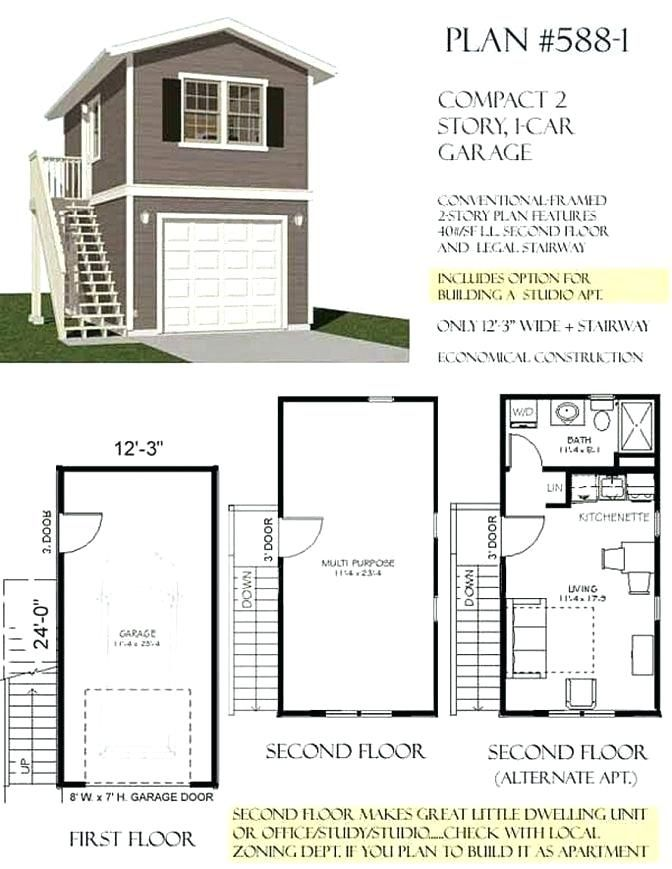 Image Result For Single Car Garage With Apartment Above Plans And Carport Garage Plans With Loft Garage Apartment Plans Garage Apartment Plan