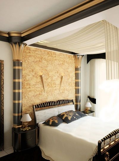 Top tips for Egyptian style bedroom interior design with luxury canopy bed - 8 Best Egyptian Decor Images On Pinterest Bedroom Decorating