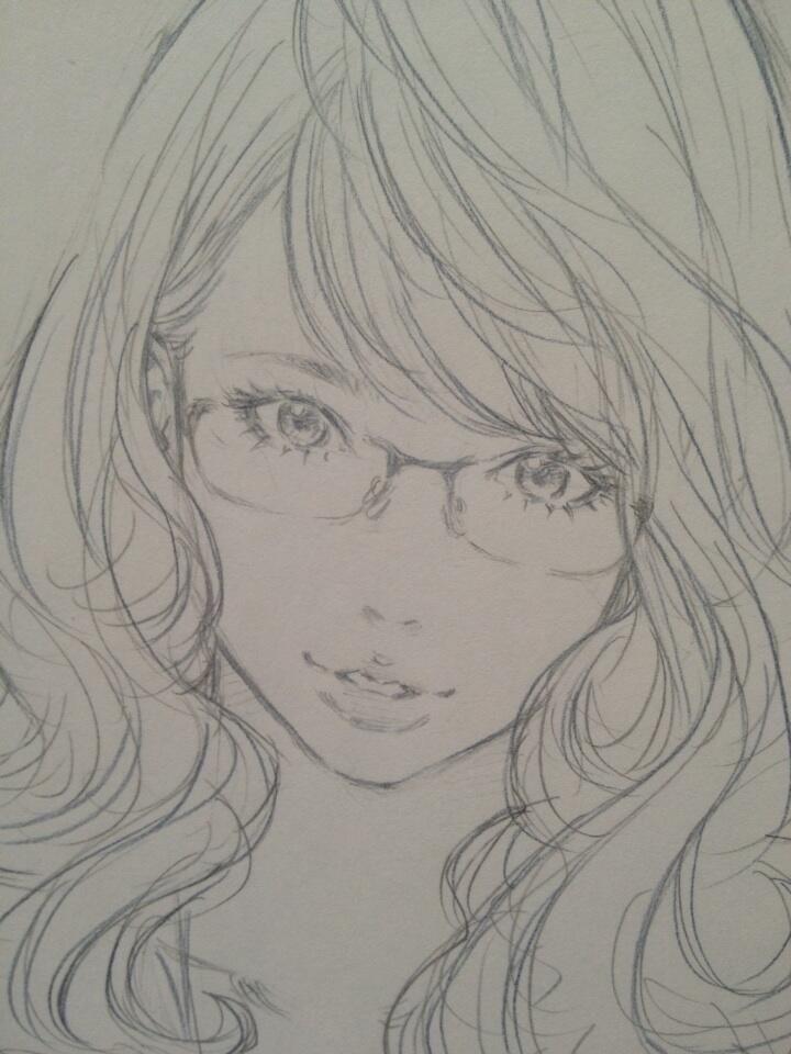 色鉛筆でペン入れ by Eisakusaku ~Don't know the artist but this style is beautiful!