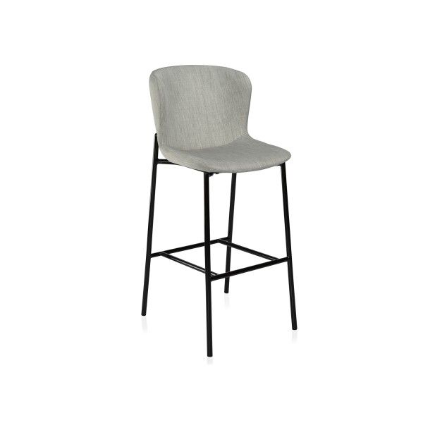 A contemporary bar stool with a unique yet comfortable design.