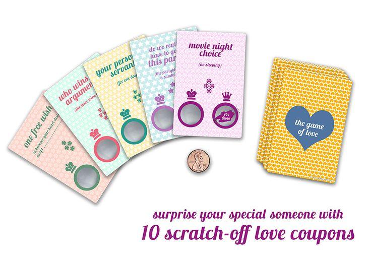 Liebes Coupon, Rubbel Karte, Romantisches Geschenk für Sie von AlissaLevy auf Etsy https://www.etsy.com/de/listing/270229091/liebes-coupon-rubbel-karte-romantisches