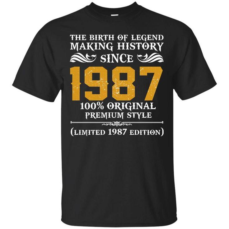 1987 Original Mens 30th Birthday Gift T Shirt