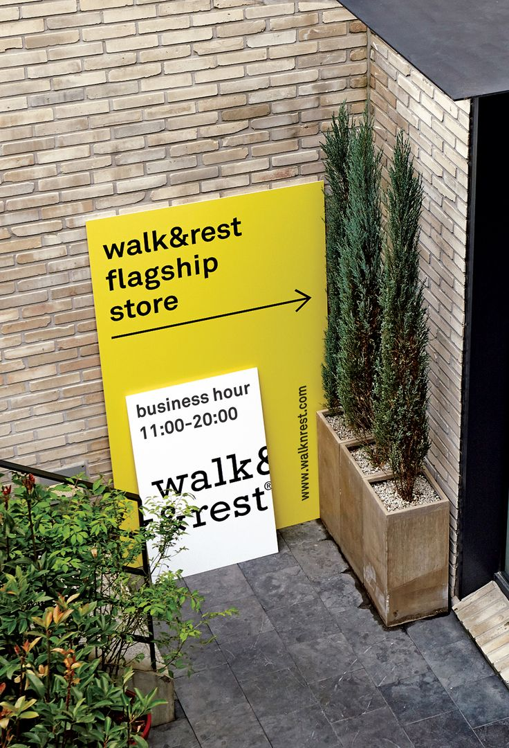 walk&rest signage designed by tenderate Corp. www.walknresest.comwalk&rest