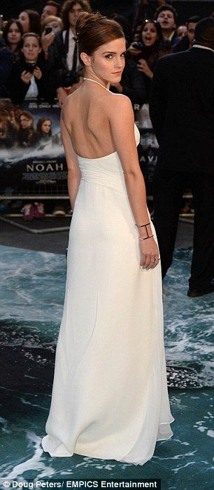 Her big moment: Emma's figure looked amazing in the gown by Ralph Lauren Collection