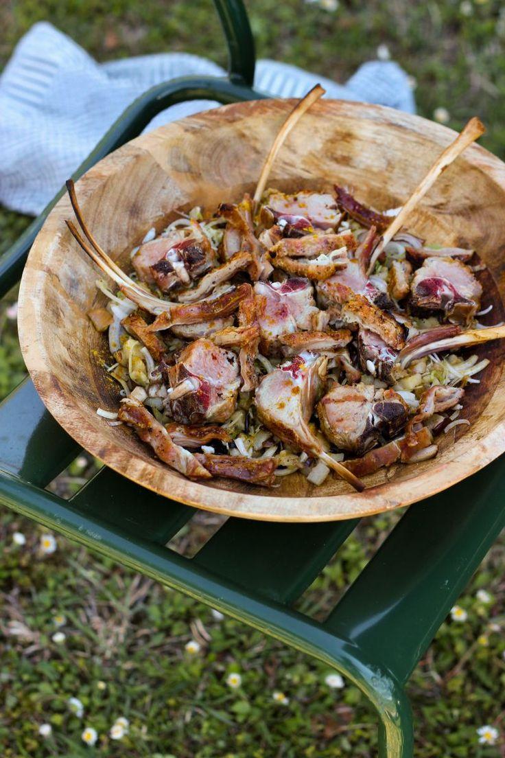"""Het lekkerste recept voor """"Lamsvlees met gegrilde aubergine"""" vind je bij njam! Ontdek nu meer dan duizenden smakelijke njam!-recepten voor alledaags kookplezier!"""