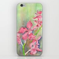iPhone & iPod Skin featuring Red Orchid by Ewally