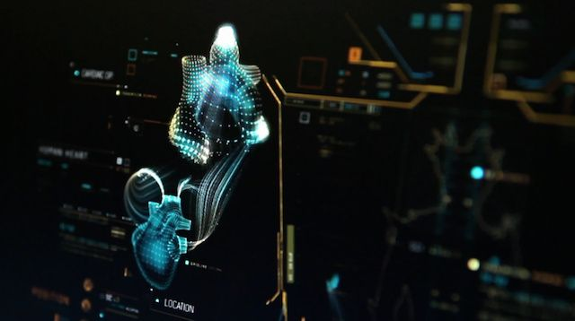 Computer interface design from Marvel's 'Guardians of the Galaxy.'