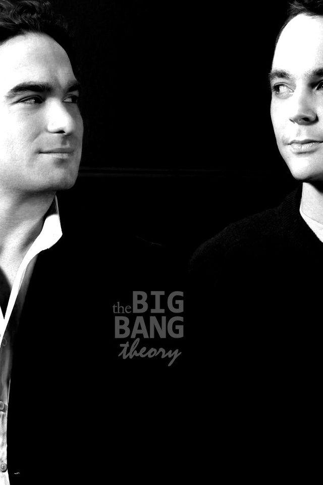 теория большого взрыва, шелдон, леонард, big bang theory, черный фон, черно-белое