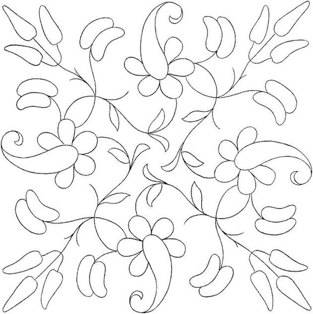 Flower Coloring Page Bordado mexicano