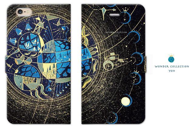 海王星の街 iPhoneケース手帳型